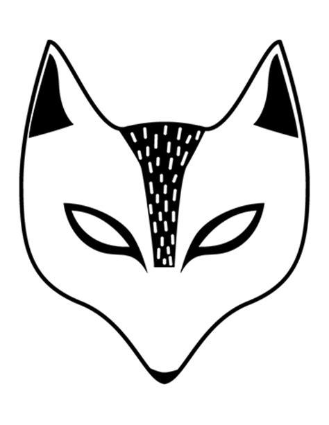 fox mask coloring page free printable children s halloween masks la petite academy