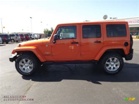 orange jeep wrangler unlimited for sale 2012 jeep wrangler unlimited 4x4 in crush orange