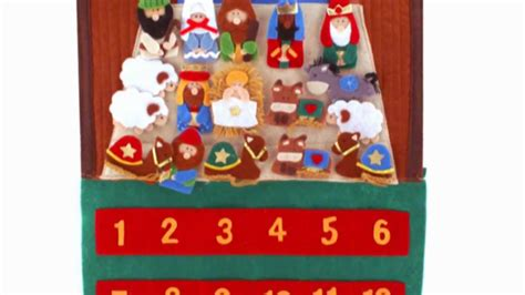 how to make felt nativity advent calendar felt advent calendar with velcro figures
