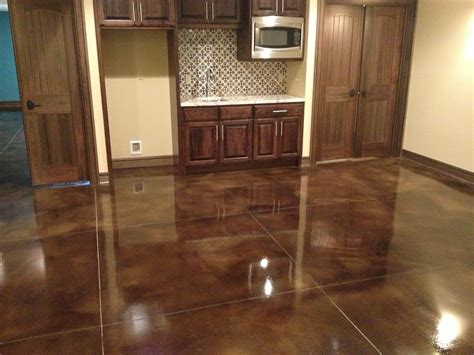 They create customized stained concrete, polished concrete