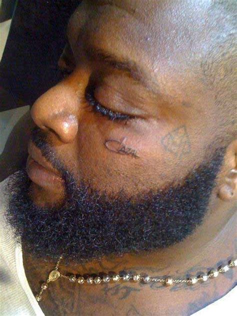 rick ross new face tatt tupac back official