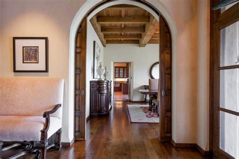 Hallway with arched sliding doors types of sliding doors for your house wearefound home design