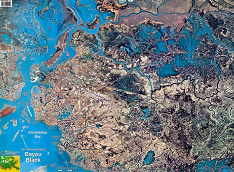 louisiana fishing map bayou black aerial chart la15 keith map service inc