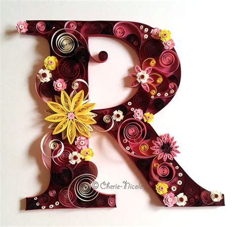 quilling alphabet tutorial quilled letter r personalised quilling on behance