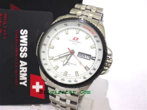 Swiss Army Sa 2013 Silver Original swiss army dhc 0142 m stainless steel original