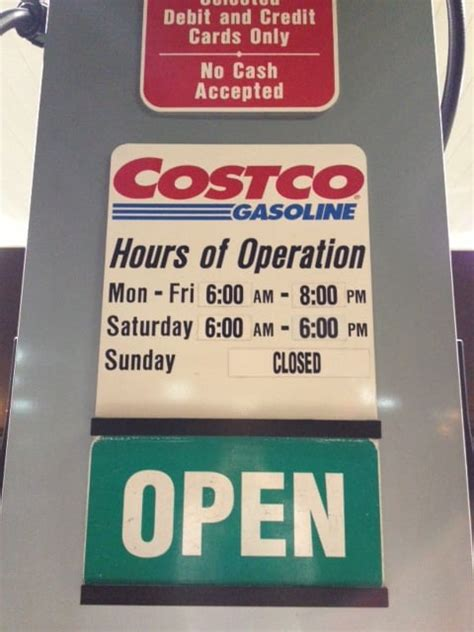 costco hours costco gasoline hours as of 11 18 12 yelp
