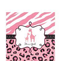 Safitri Pink pink safari baby shower supplies city