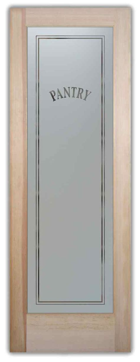Pantry Door With Frosted Glass by Etched Door Glass Sans Soucie Glass