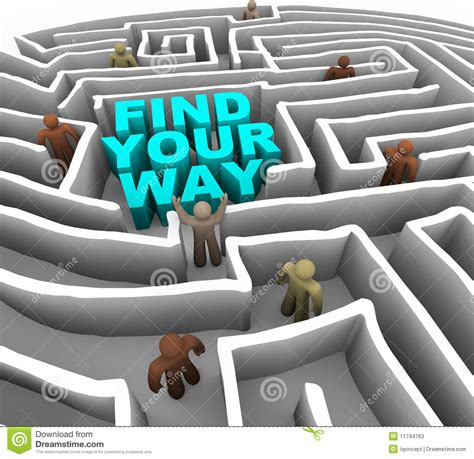 Find Around Find Your Way Through A Maze Stock Illustration