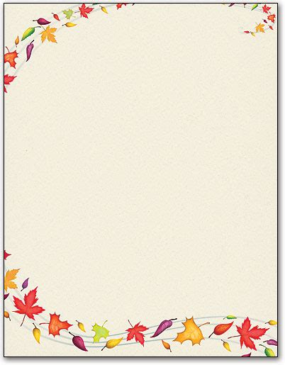 fall leaves stationery printable http www 1 computer stationery com stationery template