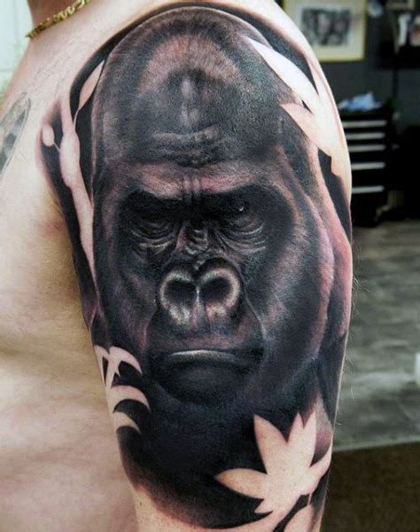 100 gorilla tattoo designs for men great ape ideas