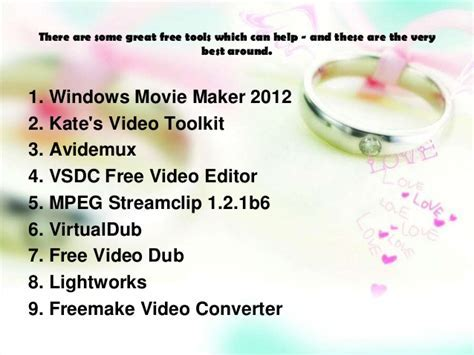 Best free video editing software for wedding cinematographers