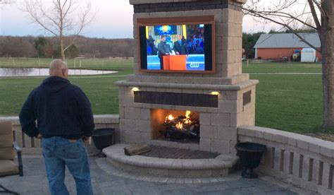 Beautiful Backyard Outdoor Tv Pictures Skyvue Outdoor Tv Gallery Skyvue