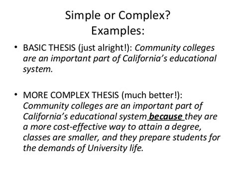 A Simple Essay by Thesis Statements Work Shop
