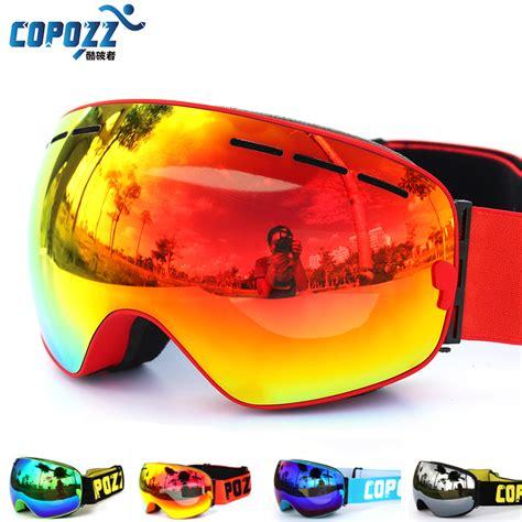Masker Fogging copozz brand ski goggles layers uv400 anti fog big