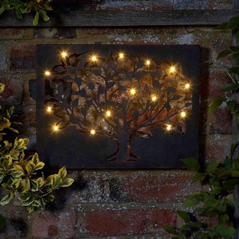 Garden Wall Hanging Silhouette Decorative Garden Outdoor Tree Wall With 12