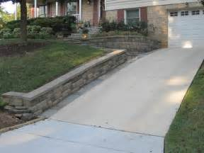 miscellaneous diy driveway retaining wall with gravels interior remove and replace broken concrete apron repair garage floor
