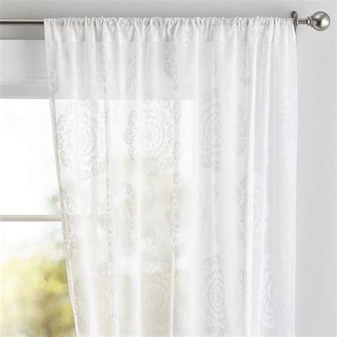 teen window curtains floral medallion sheer pbteen