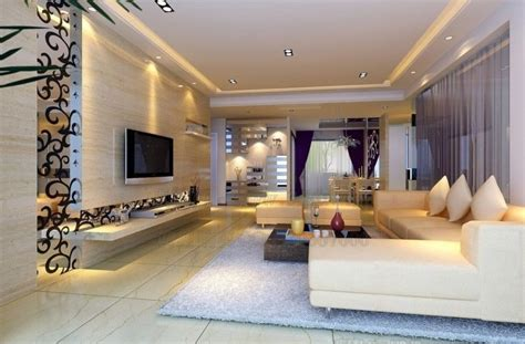 modern 3d interior design of living room interior design