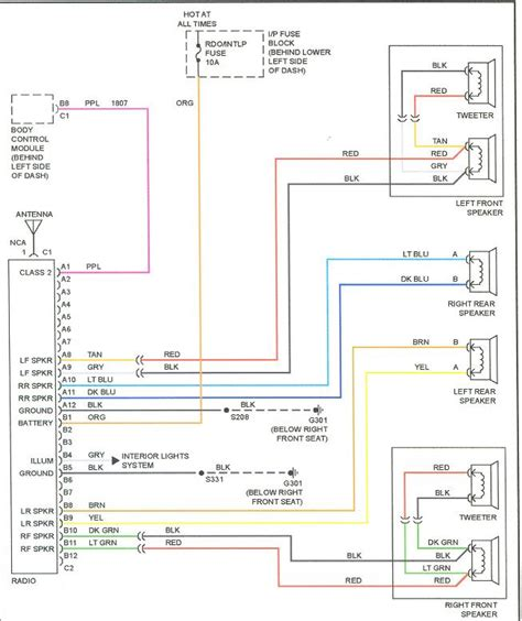 2002 pontiac grand prix radio wiring diagram 1997 pontiac