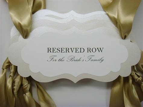 reservedseating card template ceremony 25 best ideas about reserved seating on