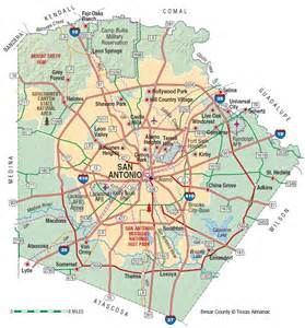 bexar county map bexar county the handbook of state