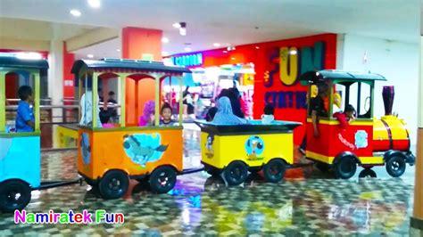 Odong Odong Kereta Panggung Mainan Kesukaan Anak Anak baru naik kereta api anak odong odong mainan anak di mall teman