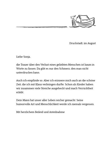 Trauerbrief Schreiben Muster Drucke Selbst Kostenlose Vorlage Mit Mustertext F 252 R Einen Kondolenzbrief
