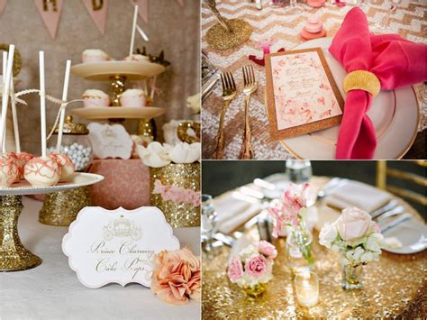 decor ideas for a gold bridal shower trueblu