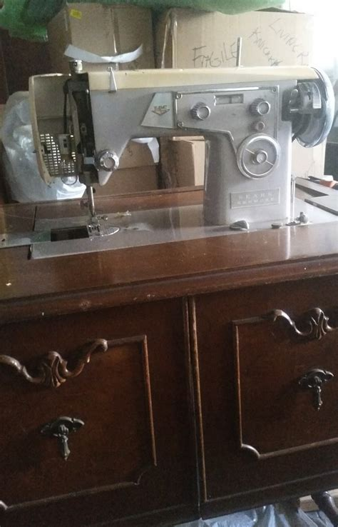 Kenmore Sewing Machine Cabinet by Kenmore Sewing Machine In Cabinet Model 117 305