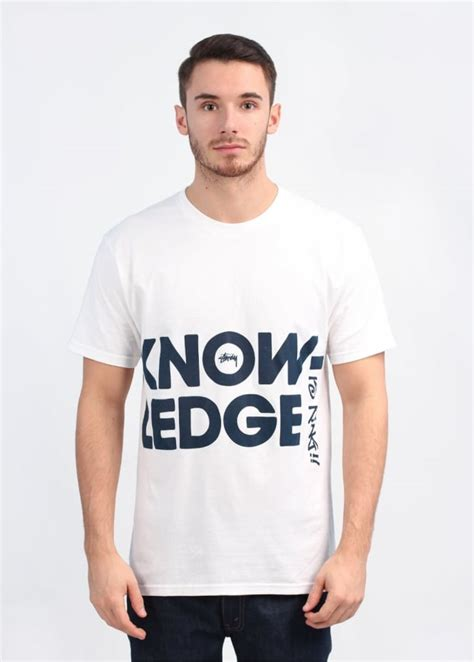 T Shirt Stussy Knowledge Black Premium stussy big knowledge t shirt white