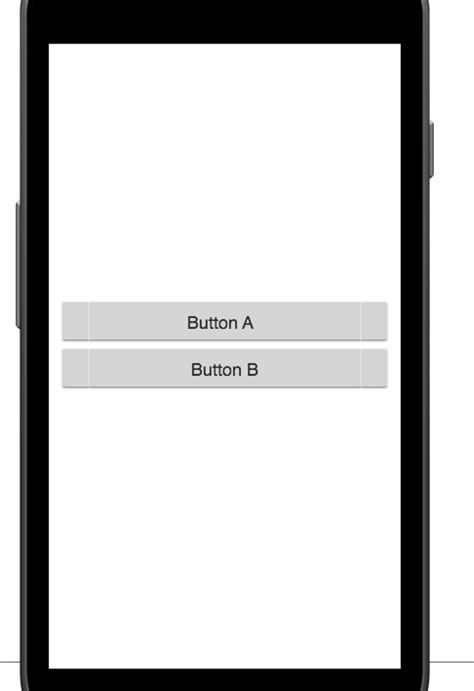 button layout width android android how to center two full width buttons in the