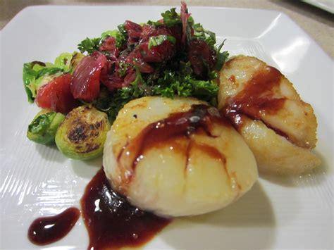gastrique cuisine foodie scallops with blood orange gastrique