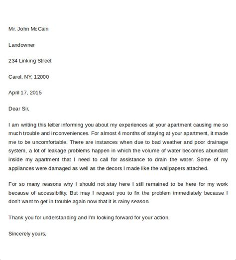 Complaint Letter Keywords formal letter