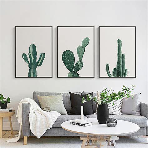 minimalist wall decor aliexpress com buy nordic minimalist cactus canvas wall