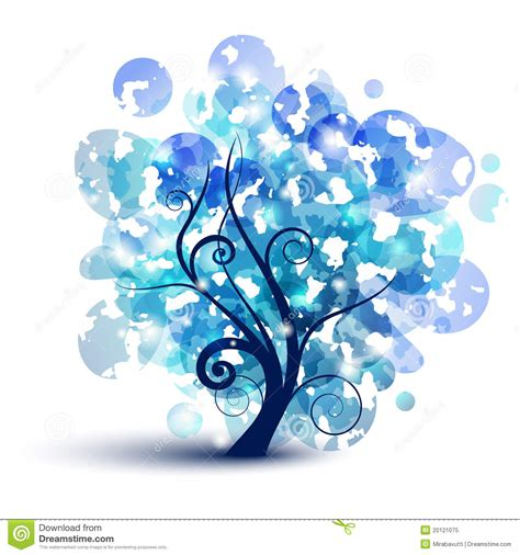 Trijee Blue blue tree royalty free stock photo image 20121075