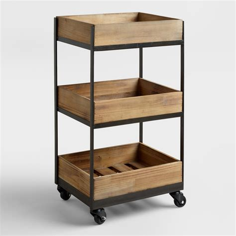 kitchen cart with shelves