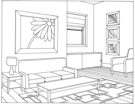 living room drawing living room 19 buildings and architecture printable