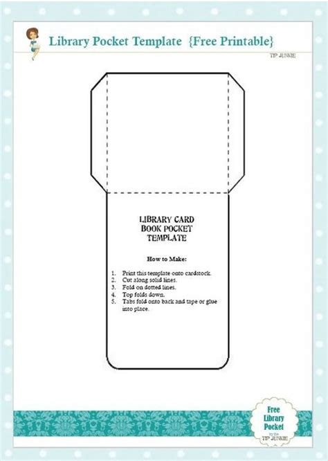 pocket card template free library card book pocket template printable tip junkie