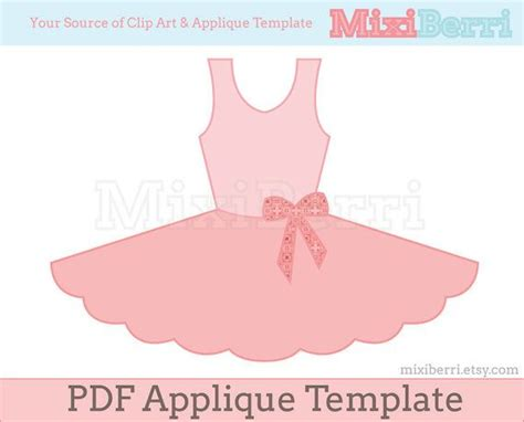 Pin The Tutu On The Ballerina Template by Ballet Tutu Dress Applique Pattern Pdf Applique Template