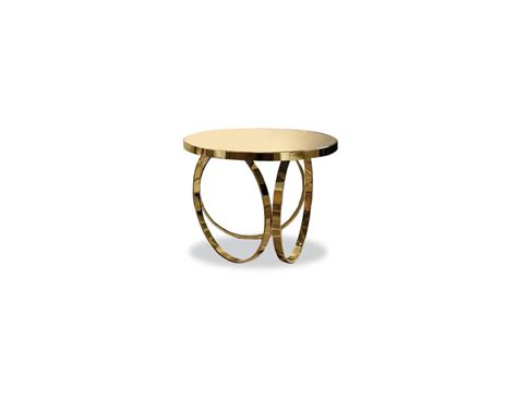 modern brass table nella vetrina ottoline contemporary italian gold metal