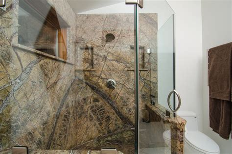 rainforest bathroom rainforest brown leathered granite bathroom traditional