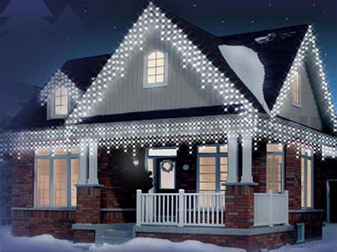 720 led white christmas icicle snowing xmas lights party