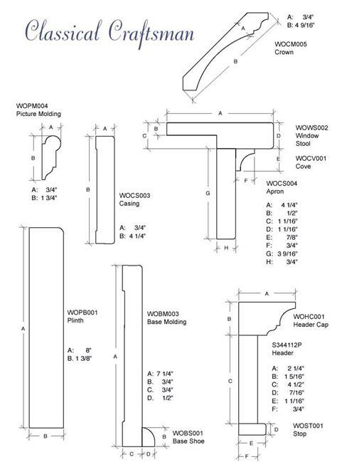 craftsman style trim details classical craftsman molding details diy pinterest