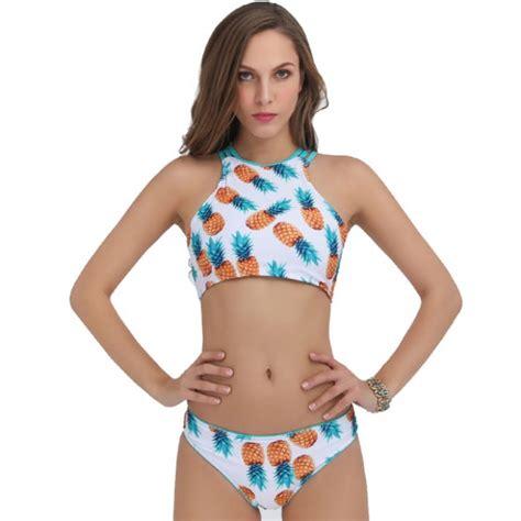 Bathing Set new pineapple printing set tank swimsuit suit
