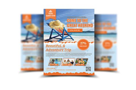 travel agency poster template travel agency flyer template flyer templates on creative