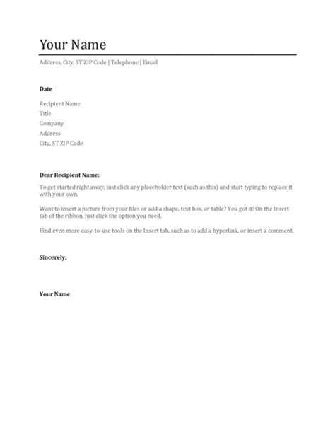 cover letter layout template resume cover letter chronological office templates