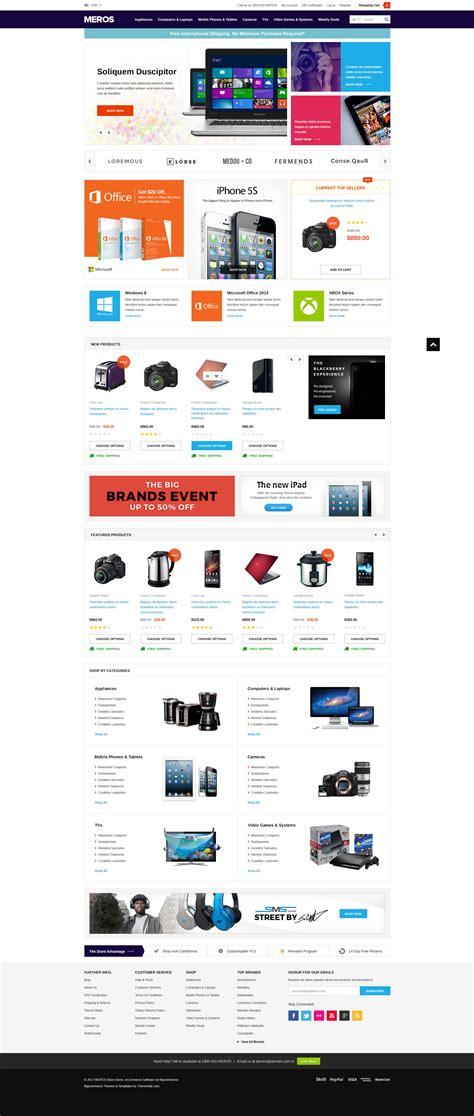 Meros Premium Responsive Bigcommerce Template Stencil Ready Themevale Com Bigcommerce Bigcommerce Stencil Templates