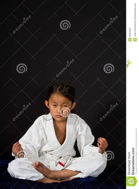 karate kid chinese girl karate kid chinese girl karate kid stock image image 29334301