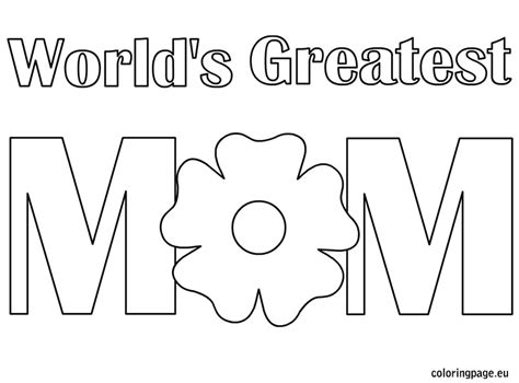 world s greatest mom coloring page mother s day